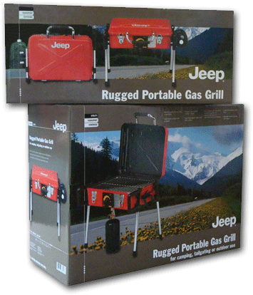 Jeep Portable Gas Grill packaging