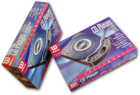 Wilson Portable CD Player packaging