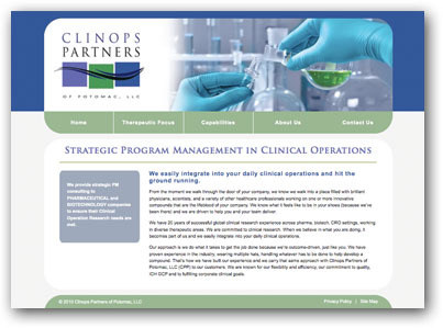 Clinops Partners of Potomac Website