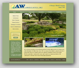 AW Landscapes Inc. Website